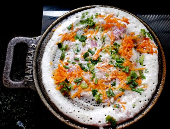 cast-iron, cast-iron skillet, cast iron pan, uttapam, hand seasoned