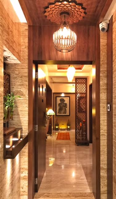 dining table, hallway, entrance hall, dipa desai, traditional, interior design, entrance, architect