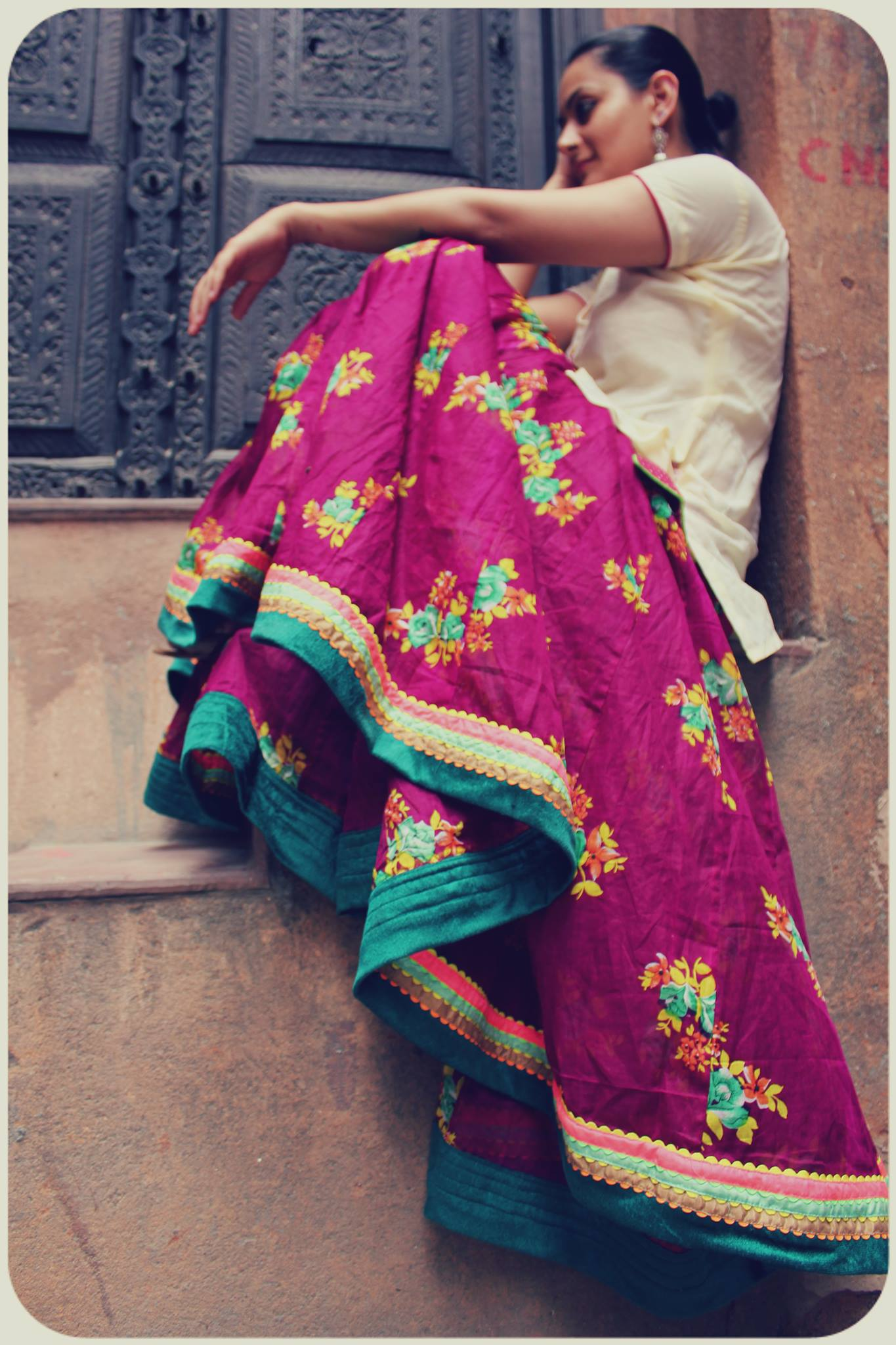 pink, bohemia, skirt, monsoon fashion, indian