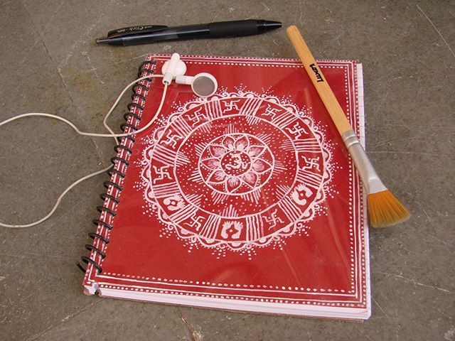 aipan, stationery; notebook, handmade, india