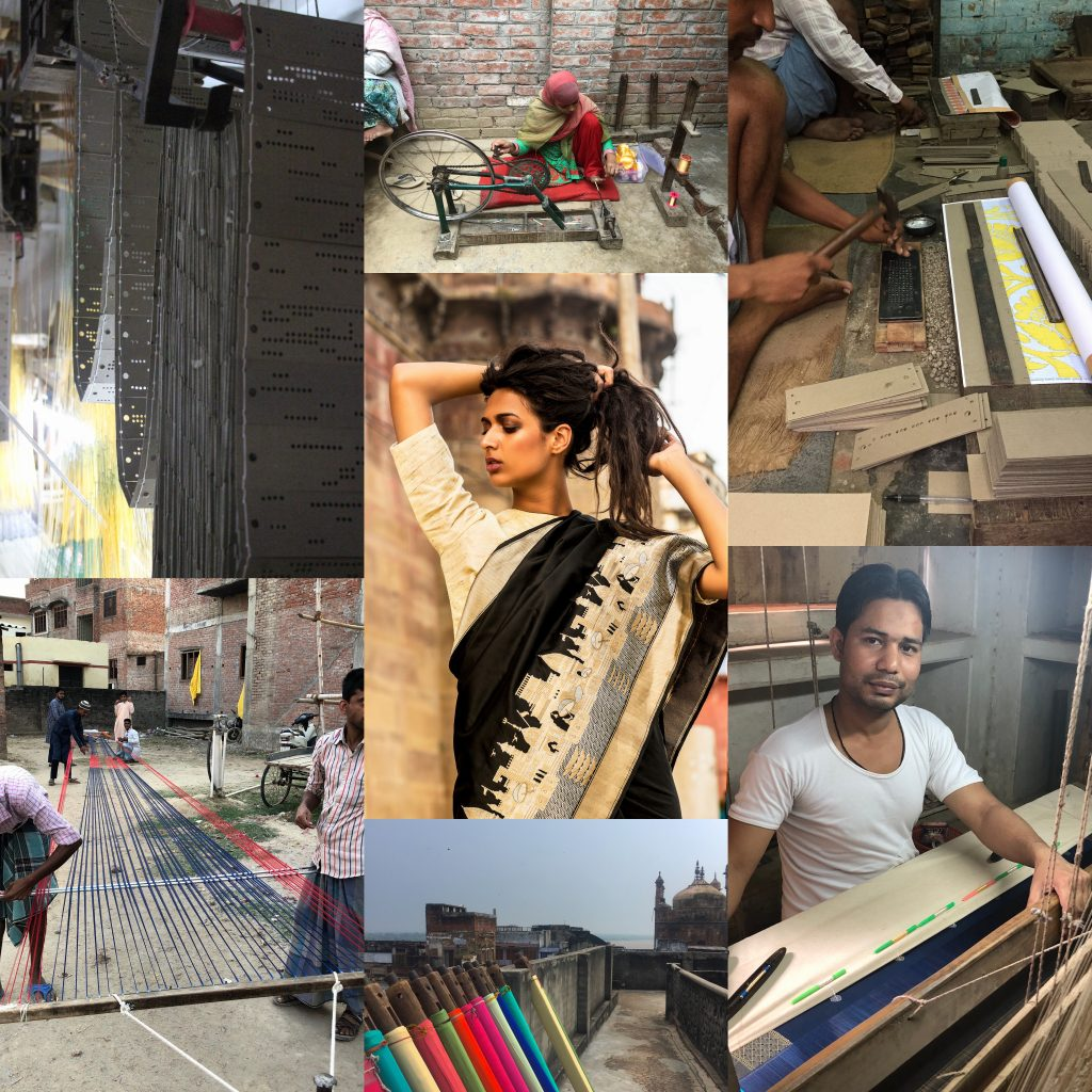 sari, weaving process, technique, banaras, handmade, banarasi