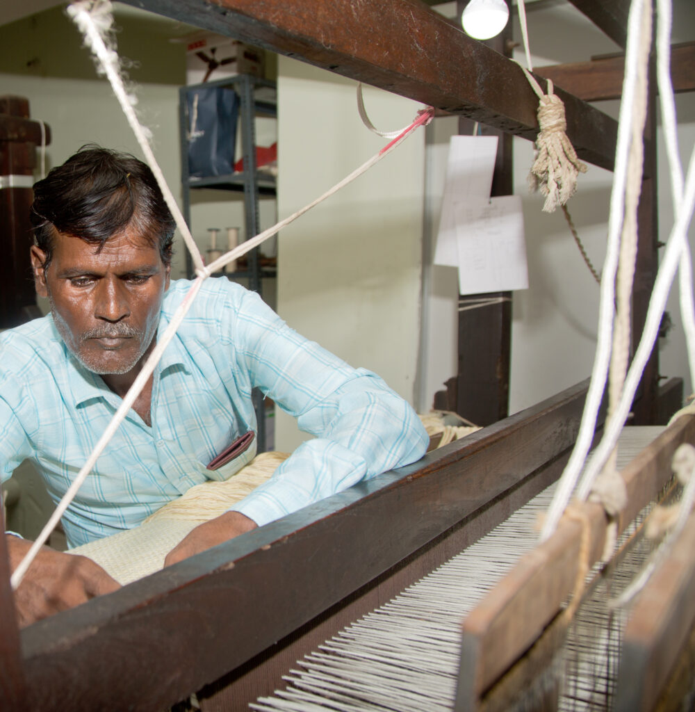 weaving, paper, fabric, hand loom, jaipur, sutrakaar, india